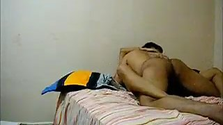 Indian men pumping her wife