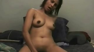 Horny Indian amateur fucking her juicy pussy with big dildo