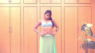 Swathi Naidu In Indian Sari Stripping Naked
