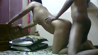 south Indian married couple recording their anniversary sex