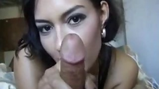 hot Indian girl giving her boyfriend a handjob jerking him off