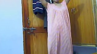 Desi Indian wife changing