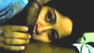 Indian bhabhi giving very hot blowjob