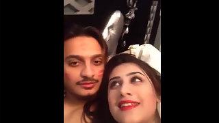 Sexy Pakistani babe Sania with her boyfriend on valentine day