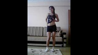 Desi Teen Striptease