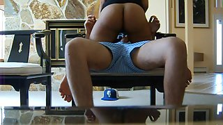 Big ass Indian babe seducing her partner riding on top on his cock