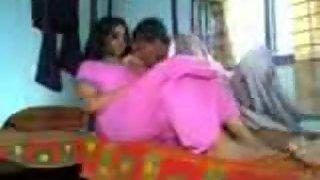 Busty next door Indian girl getting her boobs sucked by her bf