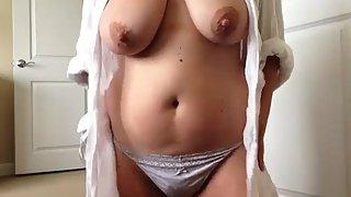 big boob Indian aunty masturbation fingering her mature pussy