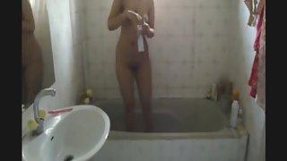 horny Pakistani girl self shoot shower video