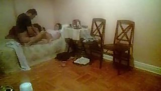 Desi mature couple having sex in their bedroom.