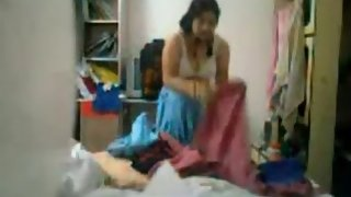Pakistani wife shumaila caught by hidden cam fixed by her nephew